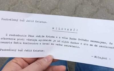 """""""Očkovanie je od zlých duchov, pochválený buď Ježiš Kristus."""" V Prešove niekto zneužíva vieru proti vakcinácii, varujú policajti"""