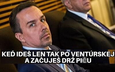 """""""Zavri si pi*u a zahoď to,"""" rýchlo zľudovelo. Slováci sa na policajnom zásahu výborne zabávajú vtipnými memes"""