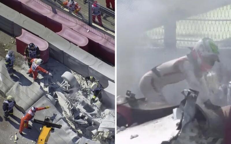 Závody Formule 2 opět poznamenala těžká nehoda, pilot mohl uhořet přímo v autě.