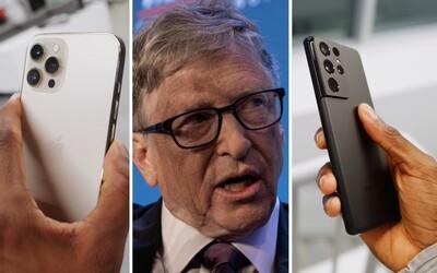 Bill Gates prozradil, zda preferuje Android, nebo iOS a iPhone. Nejdůležitější je prý flexibilita vývojářů a softwaru.