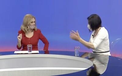 VIDEO: Konflikt v TA3 medzi novou moderátorkou a Kolíkovou. Narážky na jej muža a na Dolinského pod vplyvom alkoholu.