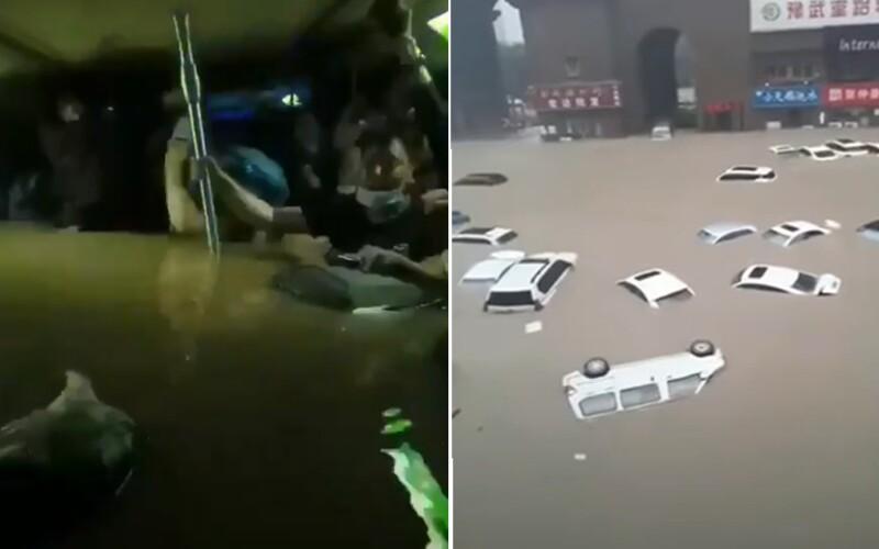 VIDEO: Čínu zasáhly bouře a povodně. Lidé umírali uvěznění ve vagónu metra, za tři dny napršelo tolik, co jindy za celý rok.