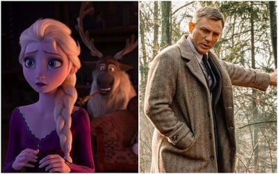 Frozen 2 valcuje kiná a blíži sa k ďalšej miliarde pre Disney. Uspel aj detektív Daniel Craig v Knives Out (Box Office)