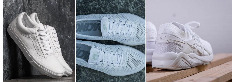 10 aktuálně nejkrásnějších a cenově dostupných bílých tenisek, které nezatíží ani tvou peněženku