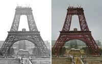 10 barevných ukázek toho, jak vznikaly ikonické stavby před desítkami let. Práce na nich nepatřila mezi nejlehčí