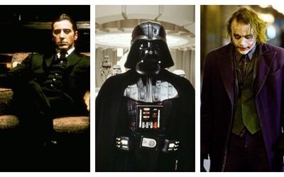 10 najikonickejších a najkomplexnejších filmových záporákov. Ako obstáli Joker či Darth Vader?