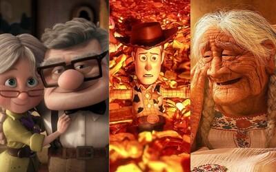 10 nejemotivnějších scén z filmů od Pixaru, které tě zaručeně rozpláčou