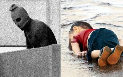 10 pôsobivých fotografií: zakrvavené dievčatko plače za mŕtvymi rodičmi, teroristi zajali tím olympionikov