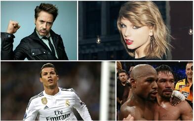 100 světových celebrit a množství peněz, které si vydělaly za poslední rok. Podívej se na nový žebříček
