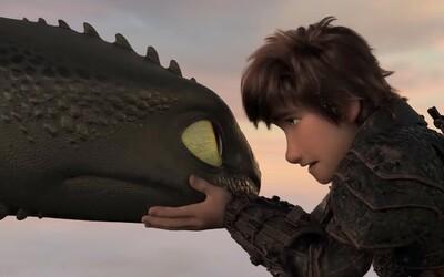 Ako si vycvičiť draka 3 láka v ďalšom dojemnom traileri na zakončenie nádherného príbehu o Bezzubke a Štikútovi