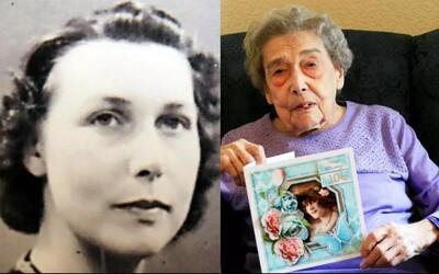 106letá stařenka za dlouhověkost vděčí tomu, že se vyhýbá mužům. Nikdy v životě neměla rande a vztahy jsou dle ní stresující