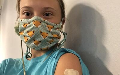 Aktivistka Greta Thunberg dostala první dávku vakcíny proti koronaviru. Neváhejte, očkování zachraňuje životy, vzkazuje.