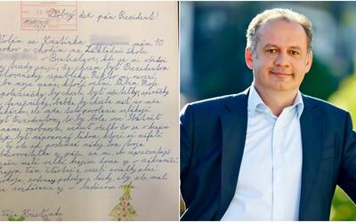 10-ročná Kristínka sa chce stať prezidentkou Slovenska. O svojom pláne informovala prezidenta Kisku krásnym listom