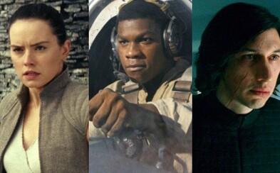 11 nových obrázkov zo Star Wars sa zameriava na hlavné postavy. Ako vyzerá Kylova jazva a nový Tie Fighter?
