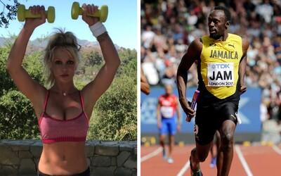 Britney Spears tvrdila, že zaběhla 100 metrů za méně než 6 sekund, tedy rychleji než světový rekordman Usain Bolt. Prý to byl žert.