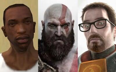 13 najvplyvnejších herných postáv: Je lepší Gordon Freeman, Max Payne, bájny Kratos alebo CJ zo San Andreas?