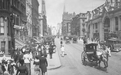 13 pozoruhodných panoramatických záběrů New Yorku na přelomu 19. a 20. století