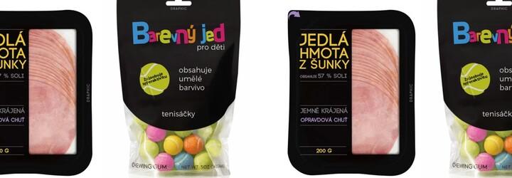 Český designér přebalil tradiční výrobky do upřímnějších obalů. Nikdo nechce jíst plast s příchutí sýra nebo barevný jed