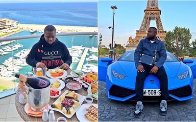 Influencer se na Instagramu chlubil penězi, auty a luxusním oblečením. Kvůli podvodům ho nyní stíhá policie.
