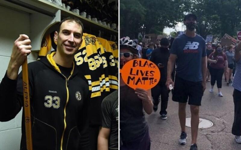 Zdeno Chára sa zúčastnil protestov Black Lives Matter. Toto odkazuje ľuďom.