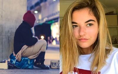 16letá dívka našla bydlení bezdomovci a vybrala pro něj 30 tisíc korun