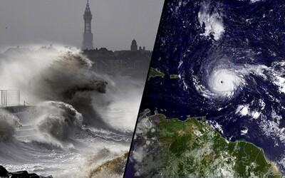 16metrové vlny, zničený ostrov, miliony lidí bez elektřiny. Hurikán Irma tvrdě zkouší Karibik a brzy i USA