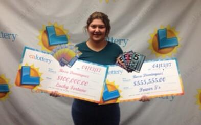 19-ročné dievča vyhralo v stieracej lotérii hneď dvakrát za jediný týždeň. Prilepšilo si o 655-tisíc dolárov a plánuje ich investovať do auta