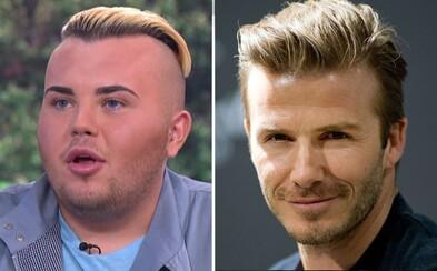 19-ročný Jack sa chcel podobať na Davida Beckhama. Za plastické operácie už zaplatil cez 20-tisíc libier