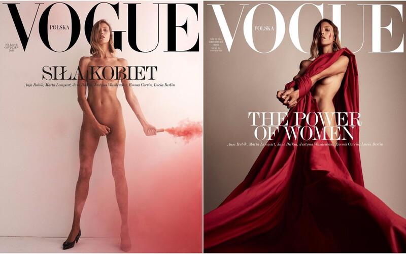 Polský Vogue bojuje za práva žen v interrupčních otázkách. Nahá modelka na obálce žádá svobodu v rozhodování.