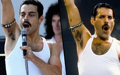 20 minútové porovnanie Bohemian Rhapsody s Live Aid koncertom ťa presvedčí, že Rami Malek dokonale skopíroval Freddieho Mercury
