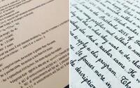 20 neskutečných ukázek rukopisu, při kterých budeš váhat, zda dotyčný nepoužil počítač. Můžeš se takovým pochlubit i ty?