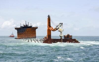 Požár na srílanské lodi způsobil únik chemikálií, podle médií již zemřelo 50 želv a 8 delfínů.