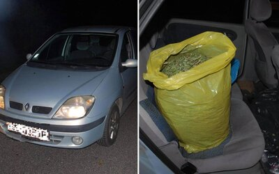 25letému Slovákovi našla policie v autě dvě kila marihuany: Hrozí mu až patnáct let za mřížemi