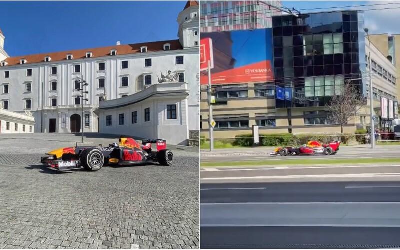 V uliciach Bratislavy sa premáva formula, v ktorej jazdil aj Sebastian Vettel. Uzavreli mesto, driftovala aj na hrade.