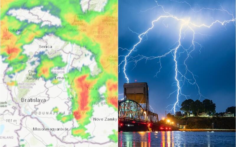 MAPA: V týchto okresoch Slovenska udrú najsilnejšie supercelárne búrky s extrémnym prívalovým vetrom.