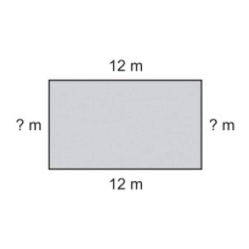 Ondrej staval ohradu okolo pozemku v tvare obdĺžnika. Jeho dlhšia strana merala 12 metrov. Celkovo použil 38 metrov pletiva. Vypočítaj dĺžku kratšej strany.