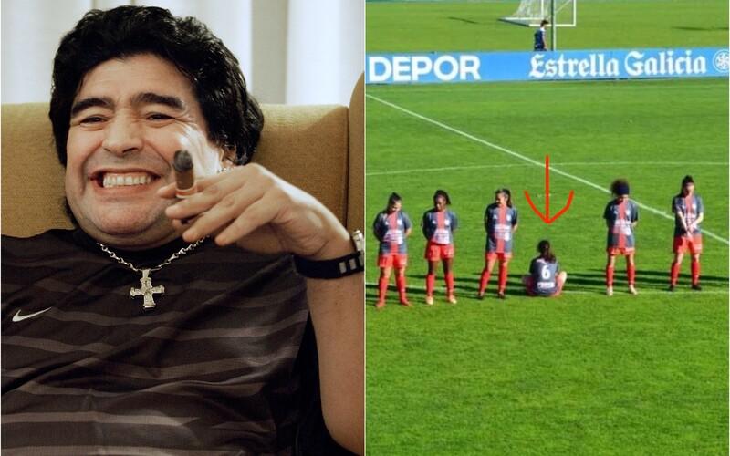 Futbalistka si odmietla uctiť Maradonu minútou ticha a sadla si: Bol to násilník, k ženám sa správal strašne.