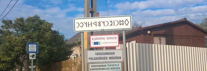 Staromaďarské písmo - kúsky histórie viditeľné popri cestách
