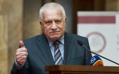 Václava Klause už propustili z nemocnice. Zeman je stále hospitalizovaný.