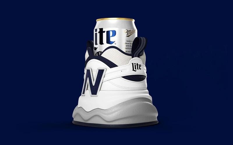 Značka New Balance představila botu na plechovku piva. Udrží ji v chladu.