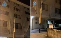 39-ročný muž zviazal plachty, spustil ich z okna ako lano a ušiel z karantény.