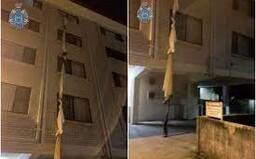 39-ročný muž zviazal plachty, spustil ich z okna ako lano a ušiel z karantény