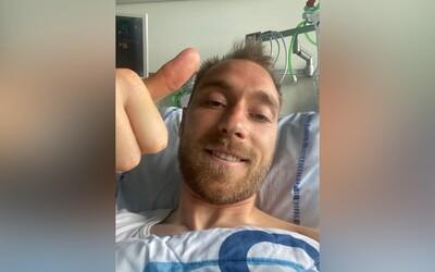 Moc děkuji za podporu, jsem v pořádku, vzkázal z nemocnice dánský fotbalista, kterého museli 15 minut oživovat přímo na hřišti.