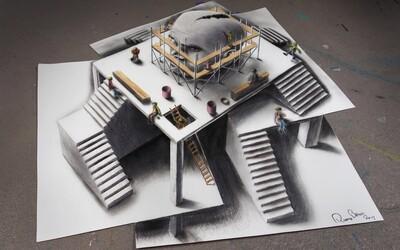 3D kresby na viacerých listoch papiera dajú tvojej hlave poriadne zabrať