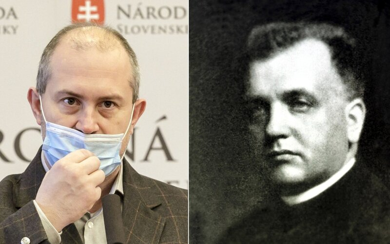 Marian Kotleba si uctil pamiatku vojnového zločinca a prezidenta slovenského štátu Jozefa Tisa.