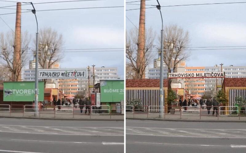 Ikonické trhovisko Miletičova špatia billboardy, ktoré mali zmiznúť po konci roku 2019. Firmy na nich stále zarábajú.