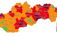 4 okresy sú oddnes v druhom stupni ohrozenia. Nová mapa okresov. Vieš, do akej farby patrí tvoj okres?