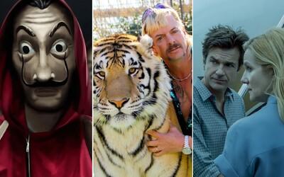 4. sériu Money Heist videlo 65 miliónov domácností, Tiger Kinga 64 a 3. sériu Ozark prelomových 30 miliónov