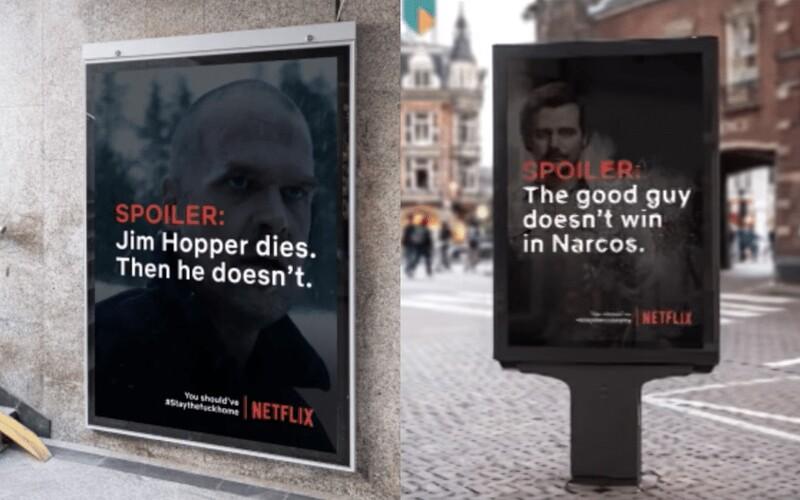 Ak nedodržíš karanténu a pôjdeš von, dozvieš sa spoilery tvojich obľúbených seriálov z Netflixu. Falošná kampaň sa stala virálnou.