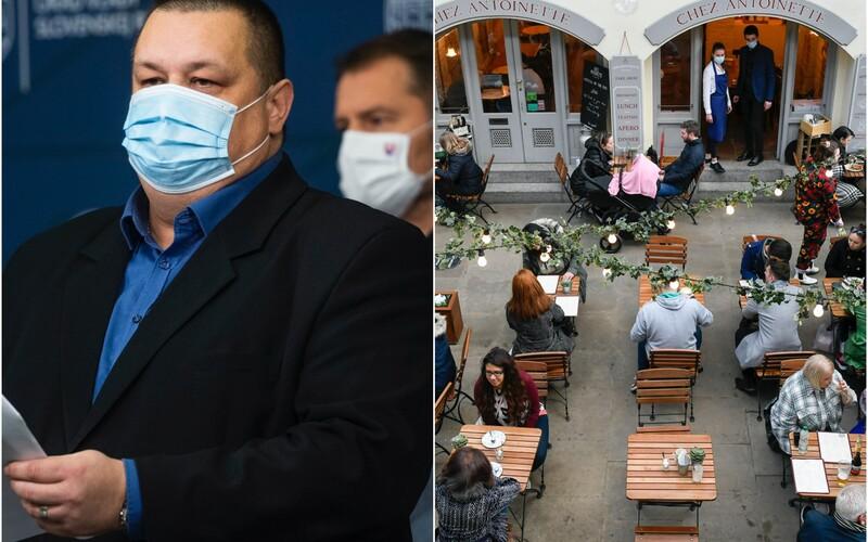 O týždeň alebo dva možno otvoríme terasy reštaurácií, hovorí hlavný hygienik Mikas.
